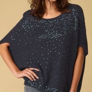 Free People Batwing Sequin Oversized Sweater XS